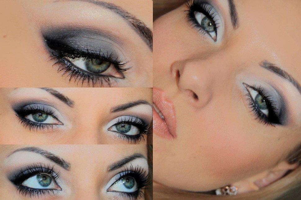 фиолетовые тени для голубых глаз