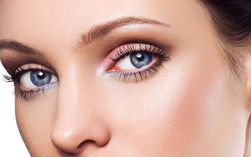 коричневые тени для голубых глаз