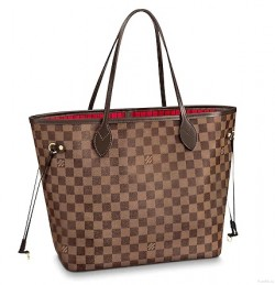 LOUIS VUITTON Damier Ebene Neverfull