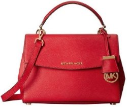 Michael Kors Ava Small Patent Saffiano Red