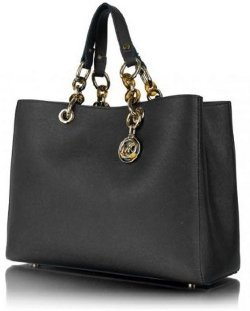 Michael Kors Cynthia Saffiano Satchel Medium Black